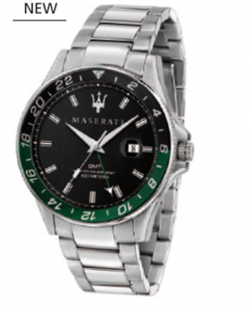 Montre aiguilles chrono Sfida Maserati noir.vert.argent 44 mm (copie)