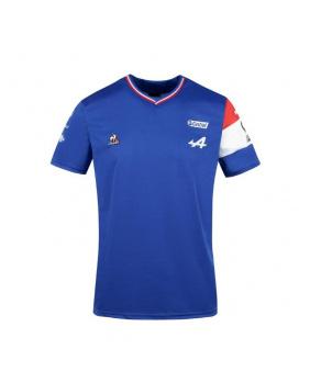 Maillot officiel Alonso enfant Alpine Le Coq Sportif bleu