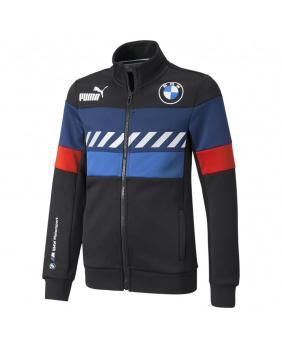 Sweat zippé enfant BMW noir bleu et rouge