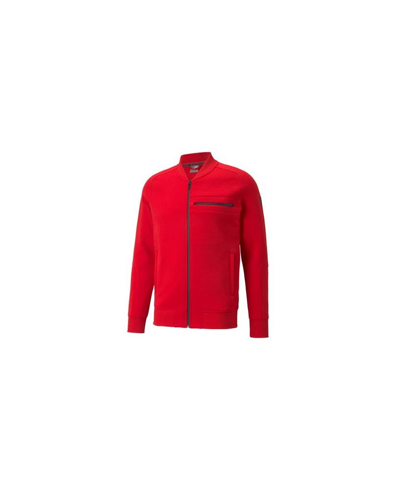 Sweat zippé slim Ferrari rouge