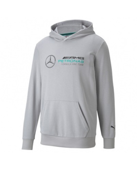 Sweat capuche Mercedes gris