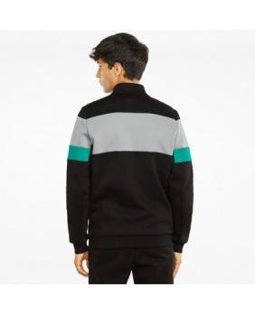 Sweat zippé Mercedes noir gris et vert