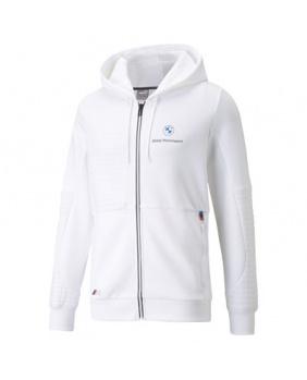 Sweat capuche zippé BMW Motorsport blanc