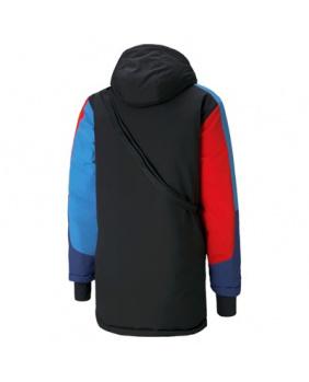 Doudoune capuche zippé BMW Motorsport noir bleu et rouge