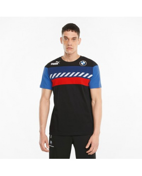 T-shirt BMW noir bleu et rouge