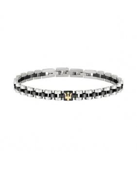 Bracelet acier Maserati or-noir-argent