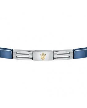 Bracelet acier céramique Maserati or-bleu-argent