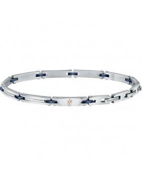 Bracelet acier céramique Maserati rose-bleu-argent