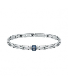 Bracelet acier Maserati bleu-argent