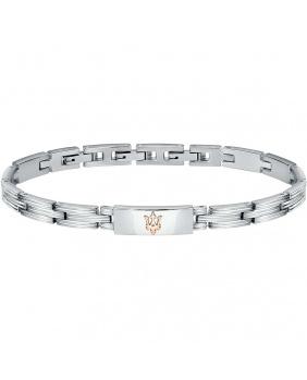 Bracelet acier Maserati rose-argent