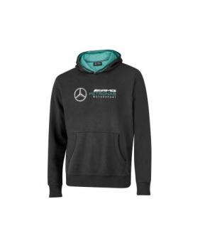 Sweat capuche Mercedes noir fan logo